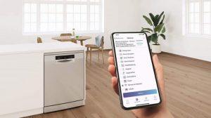 Tính năng Home Connect siêu tiện lợi với Máy rửa bát Bosch SMS4ECI26E