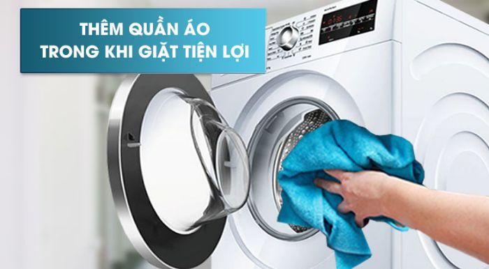 Tính năng tạm dừng tiện lợi của Máy giặt cửa trước Bosch WAT24480SG