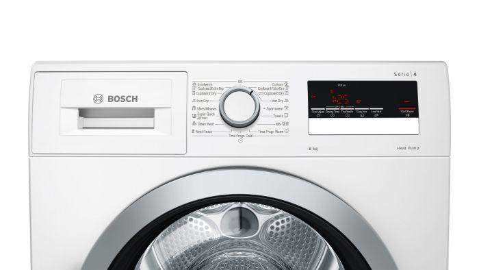 Hệ thống bảng điều khiển của máysấy tụ hơi và bơm nhiệt WTR85V00SG