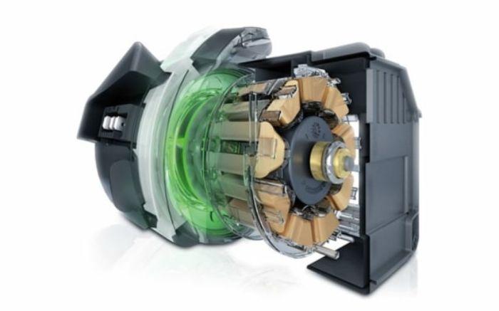 Động cơ không chổi than EcoSilence siêu bền bỉ được tích hợp trên máy sấy