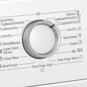 Núm xoay điều khiển của máy sấy Bosch