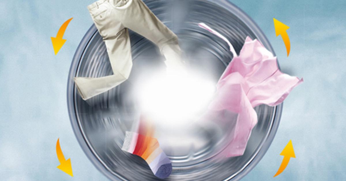 Tốc độ quay nhanh hơn với máy giặt cửa trước Bosch WAP28380SG