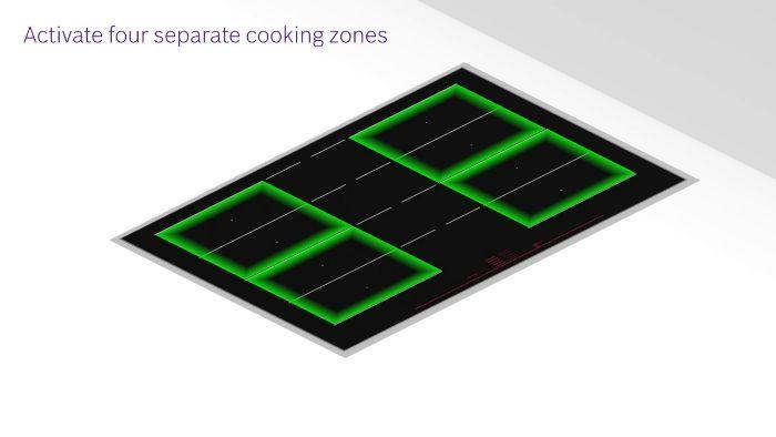 Tính năng Extended FlexInduction Zone của Bếp từ Bosch PXY875KW1E