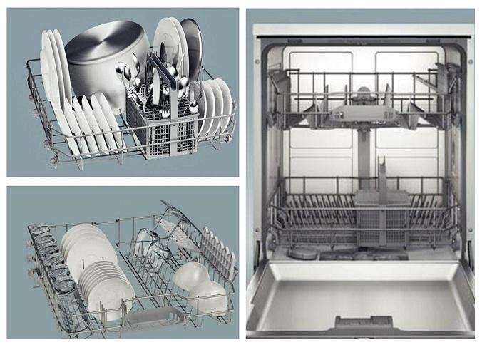 Hệ thống giàn rửa của máy rửa bát Bosch SMS4IVI01P