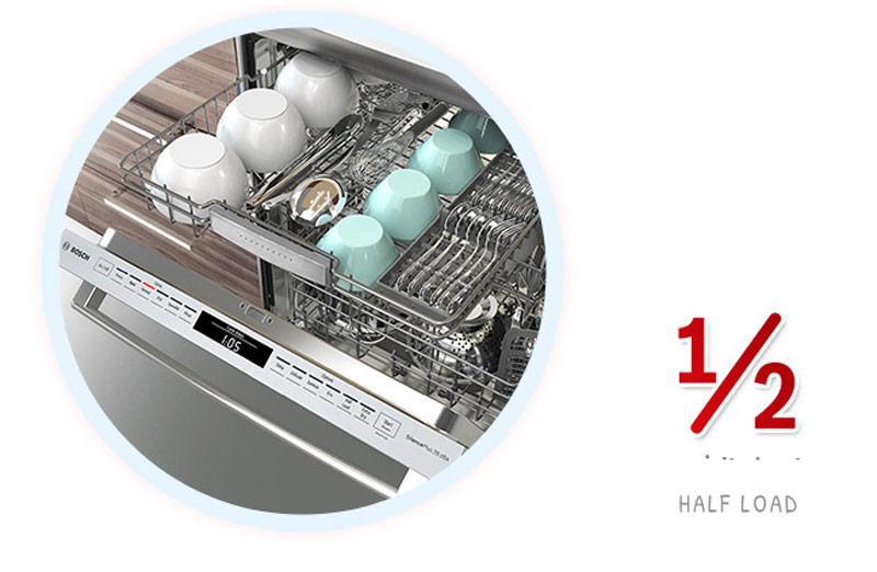 Tính năng rửa nửa tải được tích hợp trênmáy rửa bát Bosch SMS4EMI00E