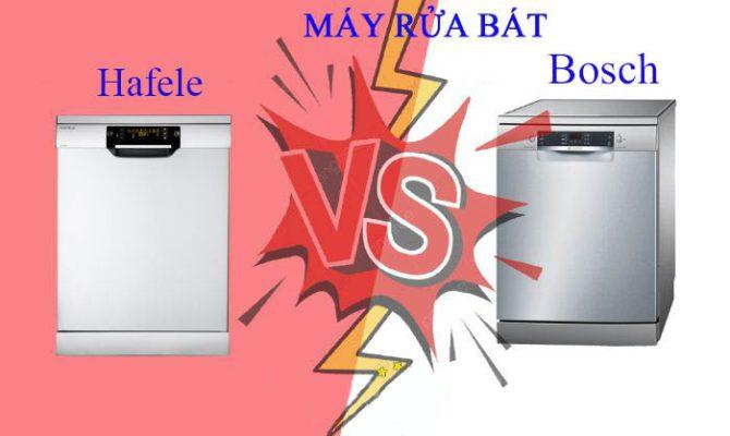 So sánh máy rửa bát Bosch và Hafele
