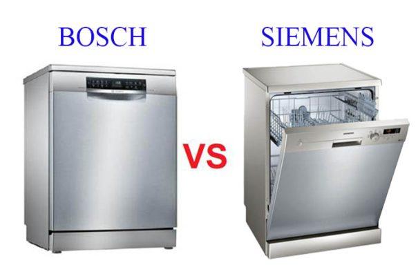So sánh máy rửa bát Bosch và Siemens