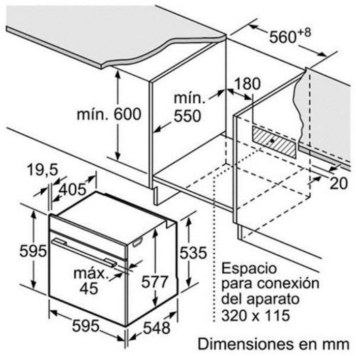 Thông số kỹ thuật của Lò nướng Bosch HBG635BB1