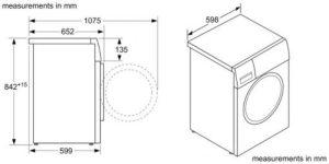 Thông số kỹ thuật của mấy sấy Bosch WTX87MH0SG
