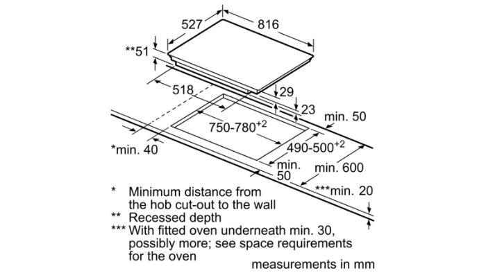 Thông số kỹ thuật của bếp từ Bosch PXY875KW1E