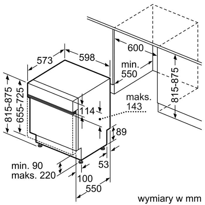 Thông số kỹ thuật của máy rửa bát Bosch SMI4HCS48E