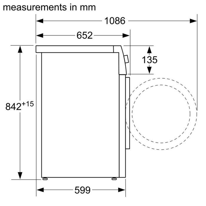 Thông số kỹ thuật củamáy sấyBosch WQG24200SG