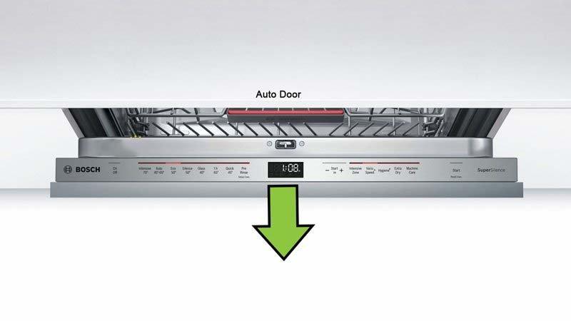 Tính năng mở cửa giúp bát đĩa được khô nhanh hơn